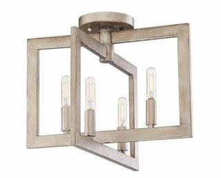 Dendron 4-Light Semi Flush Mount, Gold Twilight