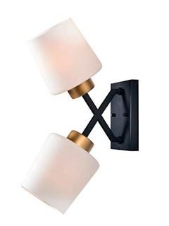 Kenroy Home 93870BL 2 Light Sconce Gold and Matte Black Finish