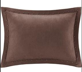 Ronning Stud Trim Lumbar Pillow, Brown, 14x20""