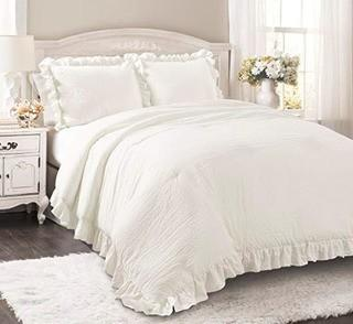 Roxbury 3PC Comforter Set, Queen, White