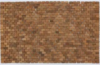 """Oversized Solid Teak Indoor/Outdoor Floor Mat 34x21"""""""