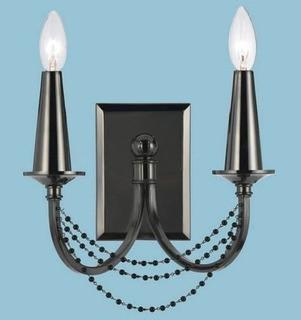 AF Lighting Candle Wall Light Finish 8488-2W