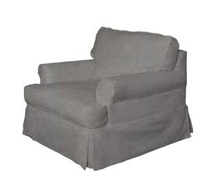 Sunset Trading SU-117620SC-220591 Horizon Chair Slipcover Set, Gray Fabric