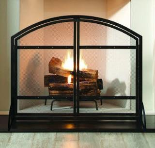 Harper Single Panel Iron Fireplace Screen