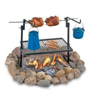 Rotisserie Grill and Spit Camping Cookware