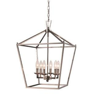 Carmen 6-Light Foyer Pendant, Polished Chrome