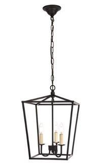 Finnick 3-Light Lantern Pendant, Balck