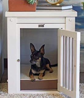 """New Age Pet ecoFlex Pet Crate/End Table,White 22"""" H x 18.1"""" W x 23.6"""" D"""