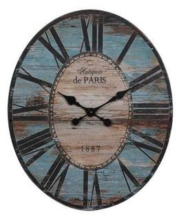 Oversized 29'' Wall Clock, Turquoise