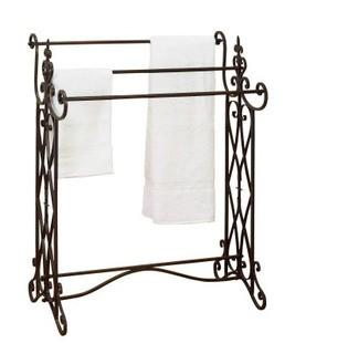 Metal Free Standing Towel Stand, Red