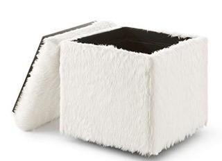 Frostley Storage Ottoman, White