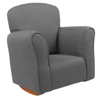 Mickie Kids Cotton Rocking Chair, Grey