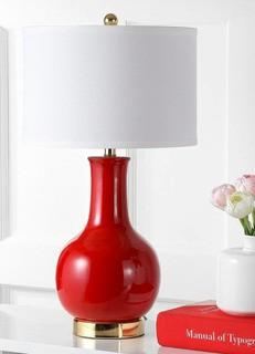 "Gannon 27.5"" Table Lamp Red"