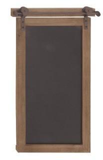 "Deco 79 84252 Rectangular Wood and Metal Chalkboard 28"" x 16"" Brown/Black"