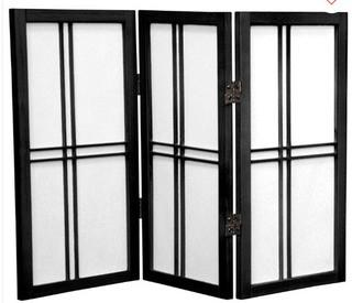 "Marla 3 Panel Room Divider 24""H x 36""W x 1""D"