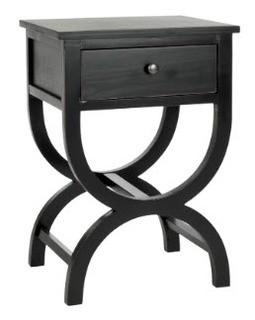Safavieh Maxine Accent Table with Storage Drawer (Black)