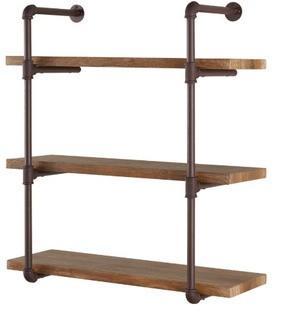Danya B Industrial Pipe Wall Shelf