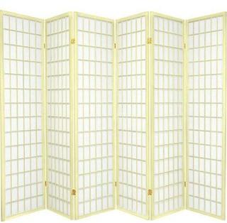 Oriental Furniture 6-Feet Window Pane Japanese Shoji Folding Privacy Screen