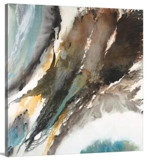 """Liquid Mercury' by Liz Jardine Painting Print on Canvas 30x30"""""""