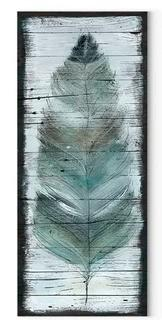 Stained Feather' Oil Painting Print on Wrapped Canva 24x8""