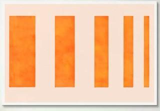 "Modern Art - Orange Levies' Graphic Art Print 18x12"""