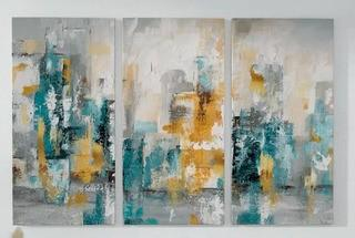 City Views II Acrylic Painting Print Multi-Piece Image on Gallery Wrapped Canvas 40x60""