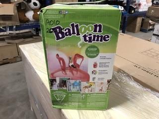 Balloon Time Standard Helium Kit c/w Ribbon, Balloons