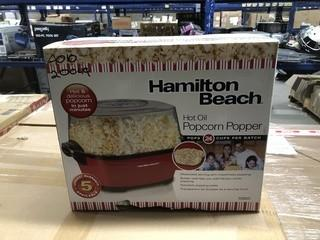 Hamilton Beach Hot Oil Popcorn Popper