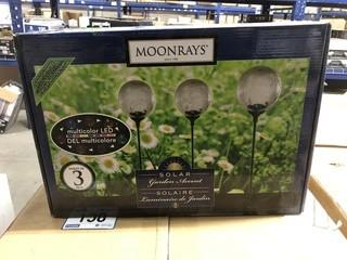 "New Moon Rays 3-Piece Solar Garden Accent 34"""