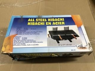 Lot of (2) New Grill Mate All Steel Hibachi