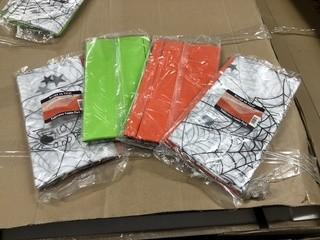 Lot of (6) New Halloween Themed Table Cover Combo Packs