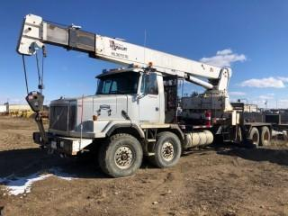 1998 Volvo Auto Car T/A T/A  Boom Truck C/W Cat 3406E, 475HP, Eng Brake,  18 spd, 46,000lb rears, Spring Susp, Weldco Hydralift HL30TC70 30 Ton Crane,  s/n 3W2285, 4 hyd outriggers, McKissick 25 ton block. VIN# 4VHSMCCJ3WN518959 **LOCATED AT FOREMOST YARD IN LLOYDMINSTER** For Viewing/Information Contact Jason At 780-870-0193