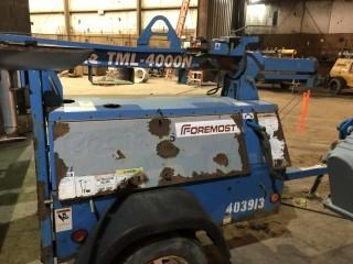 2001 GENIE TML-4000N S/A Light Tower c/w Diesel Eng, Showing 6200 Hrs, VIN# 5D8LC14142B000310