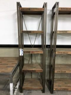 "Ocean Book Rack 5 Shelves 82"" x 24"" x 16"""
