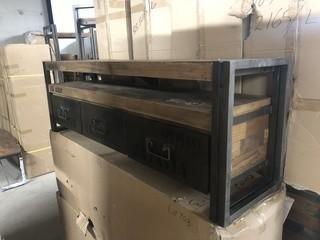 "Ocean TV Dresser 3 Drawers 64"" x 16"" x 21"""