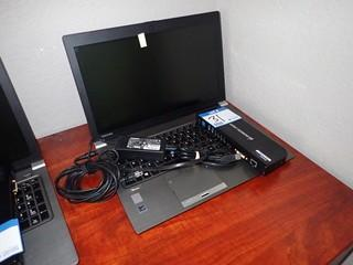Toshiba Tecra 250A Laptop Computer w/ Powercord and Docking Station. **NOTE: NO HARDDRIVE, LOCATED IN MILK RIVER**