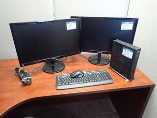 Wyse Desktop Computer w/ Samsung S23C350 Flatscreen Monitor, Samsung S23C350L Flatscreen Monitor, Keyboard and Mouse. **NOTE: NO HARDDRIVE, LOCATED IN MILK RIVER**