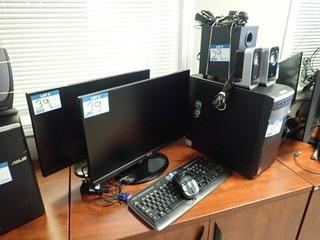 Asus Desktop Computer w/ 2 LG 23EA63 Flatscreen Monitors, Logitech Surround Sound, Keyboard and Mouse. **NOTE: NO HARDDRIVE, LOCATED IN MILK RIVER**
