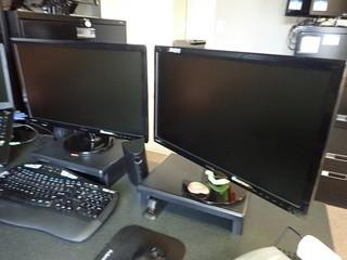 Lot of 2 Asus VB247 Flatscreen Monitors. **LOCATED IN MILK RIVER**