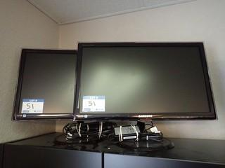 Lot of 2 Samsung Syncmaster SA550 Flatscreen Monitors. **LOCATED IN MILK RIVER**