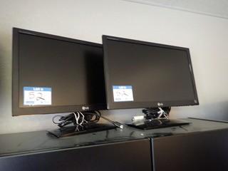 Lot of 2 LG Flatron E2251 Flatscreen Monitors. **LOCATED IN MILK RIVER**
