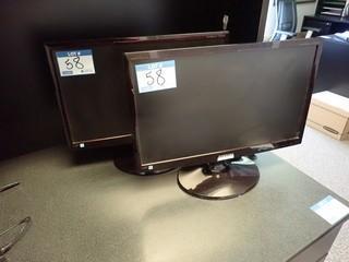 Lot of 2 Samsung Syncmaster T22B350 Flatscreen Monitors. **LOCATED IN MILK RIVER**