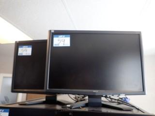 Lot of 2 Acer X223W Flatscreen Monitors. **LOCATED IN MILK RIVER**