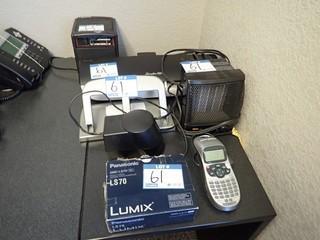 Lot of Fellowes Paper Shredder, GBC Laminator, Panasonic Lumix LS70 Digital Camera, Dymo Label Maker, etc. **LOCATED IN MILK RIVER**