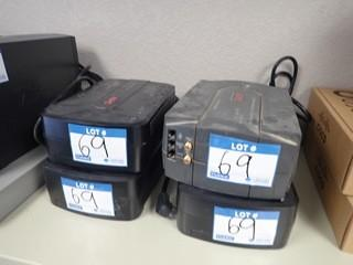 Lot of 4 Asst. Battery Backup UPS. **LOCATED IN MILK RIVER**
