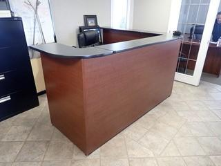 L-Shaped Reception Desk w/ Task Chair. **LOCATED IN MILK RIVER**