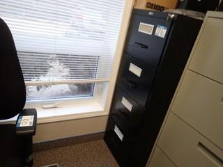 Lot of Vertical 4-Drawer File Cabinet and Vertical 2-Drawer File Cabinet. **LOCATED IN MILK RIVER**