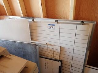 Lot of Approx. 12 Asst. Size Dry Erase Boards. **MUST BE REMOVED BY MON. APRIL 29 @5PM- LOCATED IN MILK RIVER**