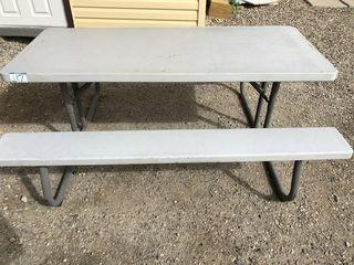 Lifetime Picnic Table. **LOCATED IN MILK RIVER**