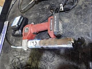 Alemite Cordless Grease Gun w/Charger and 2 Batteries.  **LOCATED IN MILK RIVER**